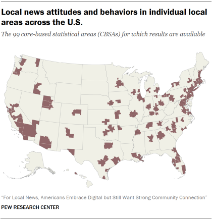 Map display a 99 CBSAs enclosed in this investigate of internal news attitudes and behaviors in particular internal areas conflicting a U.S.