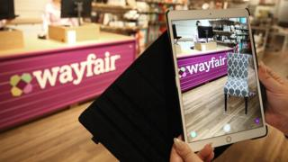 Inside a Wayfair store in a US