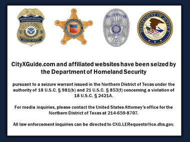 Last week a U.S. Attorney's Office close down CityXGuide.com, a website a sovereign complaint described as heading source of online advertisements for harlotry and sex trafficking. When a site is now accessed, this is a dash page that is displayed.