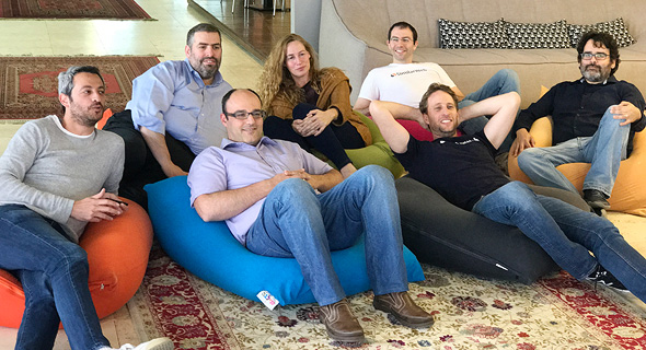 SimilarWeb employees during a company's Tel Aviv office. Photo: PR