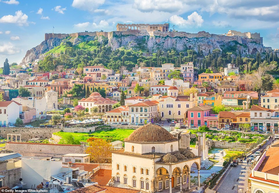 Greece has so distant reported 3,321 cases of coronavirus, including 191 deaths, a many reduce series than in many western European countries. Pictured: Athens